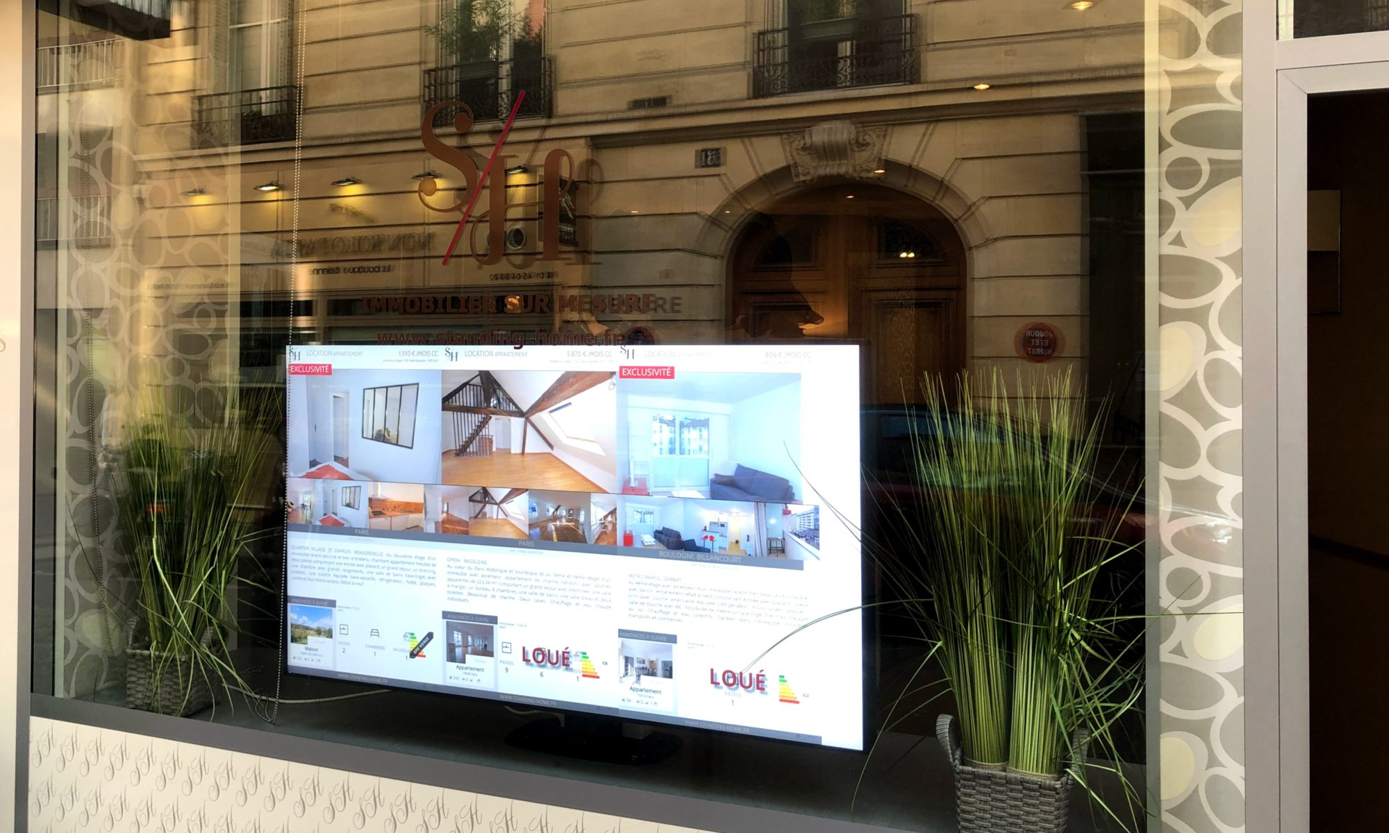 Installation d'écrans LCD