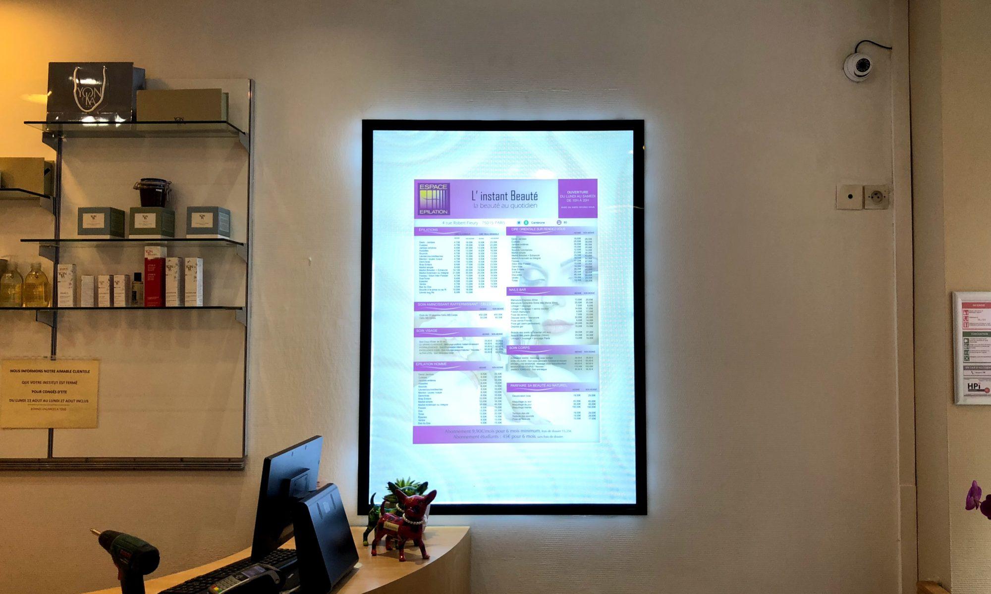 Digital signage installation